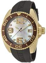 Invicta Women's 0498 Angel Collection Diamond Accented Dial Black Polyurethane Watch