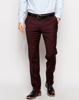 Ps By Paul Smith Ps By Paul Smith Slim Trousers In Stretch Wool - Red
