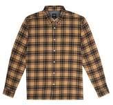 Burton Mens Big & Tall Caramel Long Sleeve Brushed Check Shirt