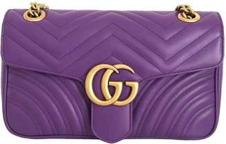 Gucci Marmont Purple Leather Handbags
