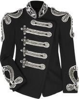 Crystal-embellished canvas jacket