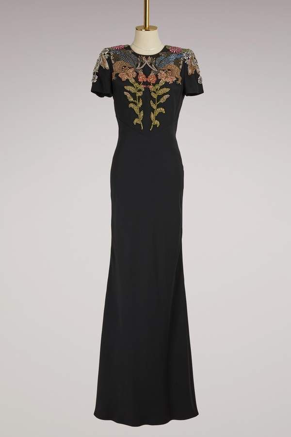 Alexander McQueen Long Crepe Dress