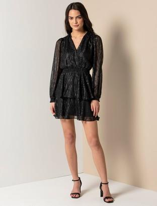 Ever New Keira Long Sleeve Metallic Dress