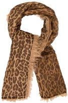 Dolce & Gabbana Leopard Print Fringe Shawl