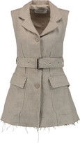 Marques Almeida Marques' Almeida Belted frayed linen vest
