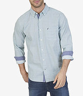 Nautica Long-Sleeve Circle Print Classic Fit Shirt