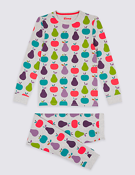 Marks and Spencer Cotton Rich All Over Print Pyjamas (1-16 Years)