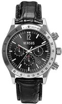 Versus By Versace Men's SGC050012 Cosmopolitan Round Stainless Steel Black Dial Chronograph Watch