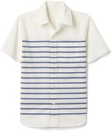 Gap Ocean embroidery short sleeve shirt