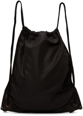 Guidi Black Drawstring Backpack