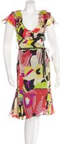 Christian Lacroix Silk Floral Print Dress