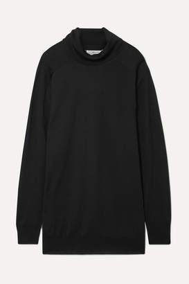 Maison Margiela Oversized Wool Turtleneck Sweater - Black