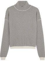 MiH Jeans Malmo Striped Cashmere Turtleneck Sweater - medium