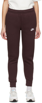 Nike Burgundy Fleece Sportswear Club Lounge Pants
