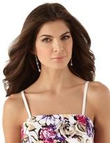 White House Black Market Strapless Cotton Floral Dress