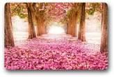 """Rose door mats 23.6""""(L)x15.7""""(W),3/16""""-Comfortable Pink Rose Road Doormats Door Mat"""