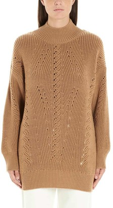 Alberta Ferretti High-Neck Sweater