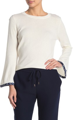 Draper James Trimmed Bell Sleeve Sweater