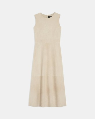 Theory Clean Shift Dress in Suede