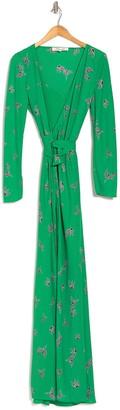 Diane von Furstenberg Peggy Flying Birds Wrap Front Dress