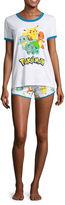Pokemon Shorts Pajama Set-Juniors