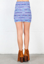 Prince of Peace Cowabunga Body-Con Skirt in Multi - by Our