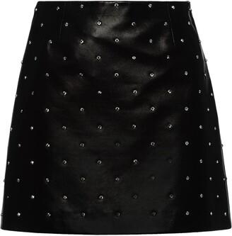 Miu Miu Mini Leather Skirt