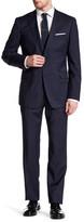 Zanetti Catania Blue Woven Two Button Notch Lapel Wool Trim Fit Suit