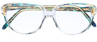 Givenchy Pre Owned 1980's Geometric Printed Prescription Glasses