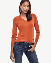 Ann Taylor Petite Merino Wool V-Neck Sweater