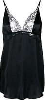 Gilda & Pearl Rita lace-insert babydoll satin slip dress