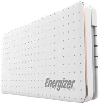 Energizer 10,000Mah Power Bank Charger With Integrated Usb-Type-C Android Cable In White