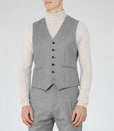 Reiss Reiss Samuel W - Modern Wool Waistcoat In Grey, Mens