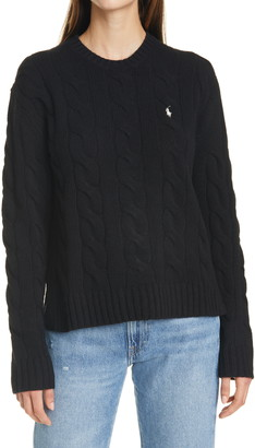 Polo Ralph Lauren Classic Cable Knit Wool & Cashmere Sweater