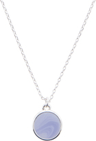 Accessorize Blue Circle Pendant Necklace