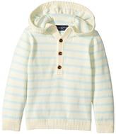 Toobydoo Cotton Cashmere Light Blue Henley Beach Hoodie Boy's Sweatshirt