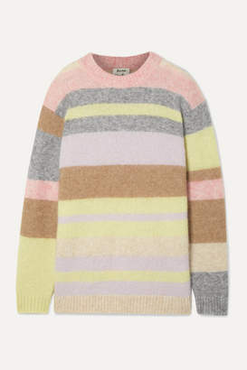 Acne Studios Kalbah Striped Knitted Sweater - Lilac