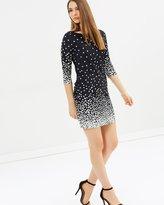 Wallis Spot Mesh Sleeve Dress