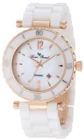 Lucien Piccard Women's LP-10222-WWRA La Tournette White and Rose Gold-Tone Stainless Steel Watch with Ceramic Bracelet
