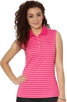 Puma Stripe Sleeveless Golf Polo Shirt