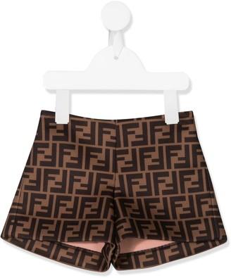 Fendi Kids FF monogram pattern shorts