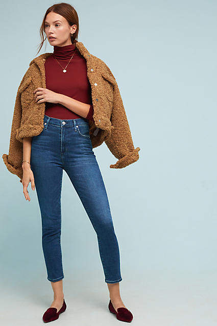 Citizens of Humanity High-Rise Cropped Skinny Petite Jeans