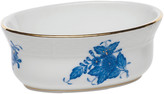 Herend Chinese Bouquet Blue Mini Oval Bowl
