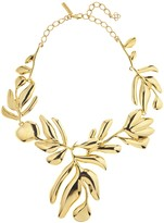 Oscar de la Renta Graphic Botanic Necklace