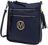 Mkf Collection By Mia K. MKF Collection by Mia K. Women's Handbags - Navy Expandable Tassel-Accent Crossbody Bag
