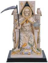 StealStreet SS-G-313.47 10-Inch Santa Muerte with Money Robe Sitting on Throne Statue