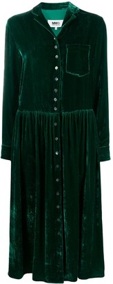 MM6 MAISON MARGIELA Velvet-Effect Shirt Dress