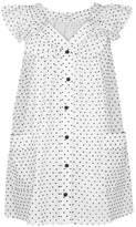 Marysia Swim Majorca Polka Dot Cotton Mini Dress