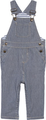 Boden Ticking Stripe Denim Overalls