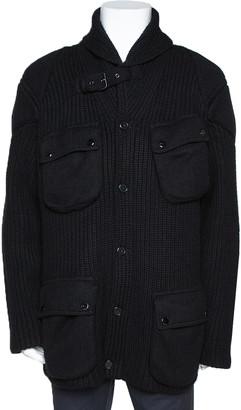 Ralph Lauren Black Cashmere & Wool Knit Shawl Collar Cardigan XL
